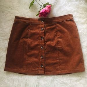 NWT Plus Size Corduroy Mini Skirt. Size X1